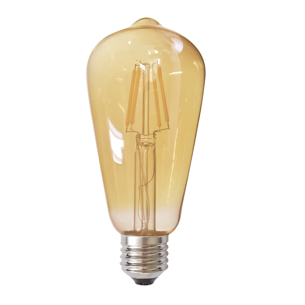 Edison ST64 E27 LED 6W Amber Dimm