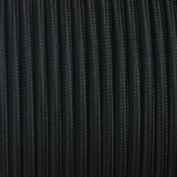 Dekorativni kabel – tekstilni 2×0.75 – Crni