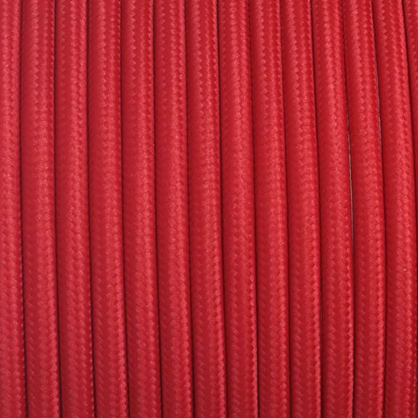 Dekorativni kabel – tekstilni 2×0.75 – Crveni