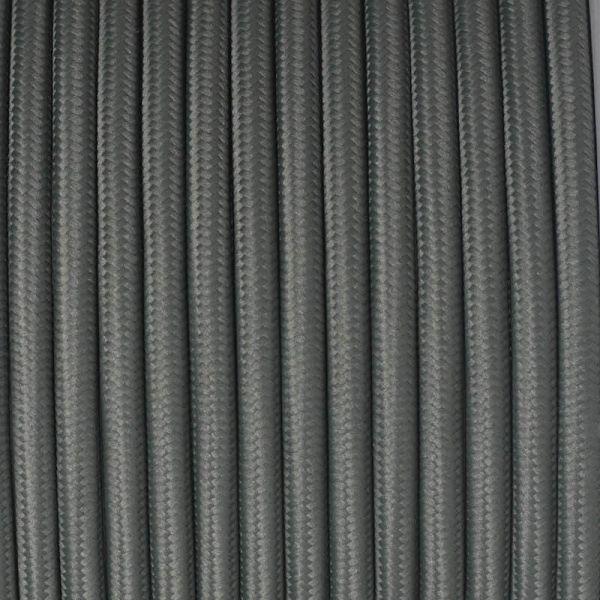 Dekorativni kabel – tekstilni 2×0.75 – Sivi