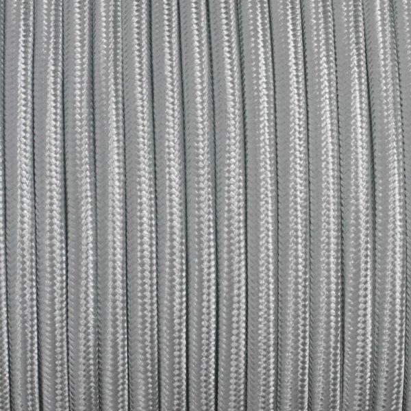 Dekorativni kabel – tekstilni 2×0.75 – Srebrni
