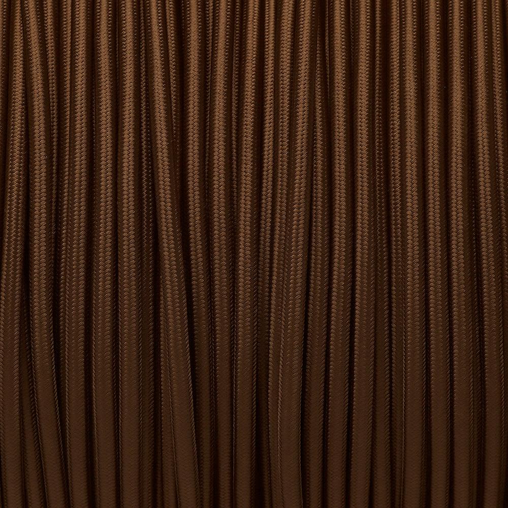 Dekorativni kabel – tekstilni 2×0.75 – Smeđi