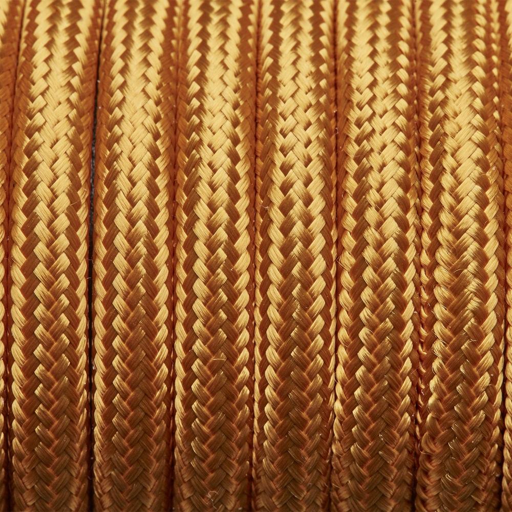Dekorativni kabel – tekstilni 2×0.75 – Zlatni