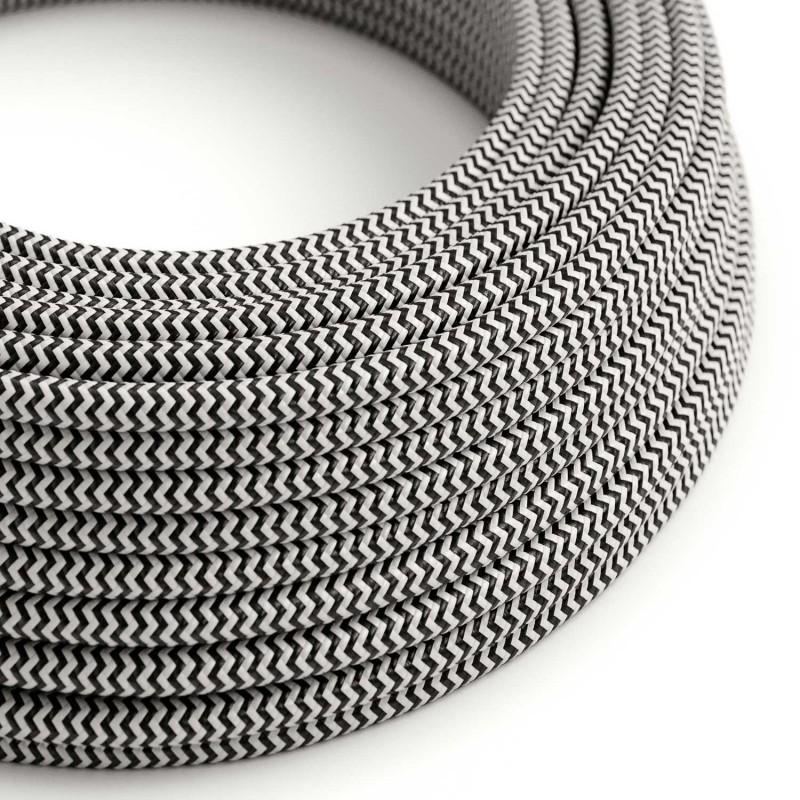 Dekorativni kabel – tekstilni 2×0.75 – Crno-Bijeli