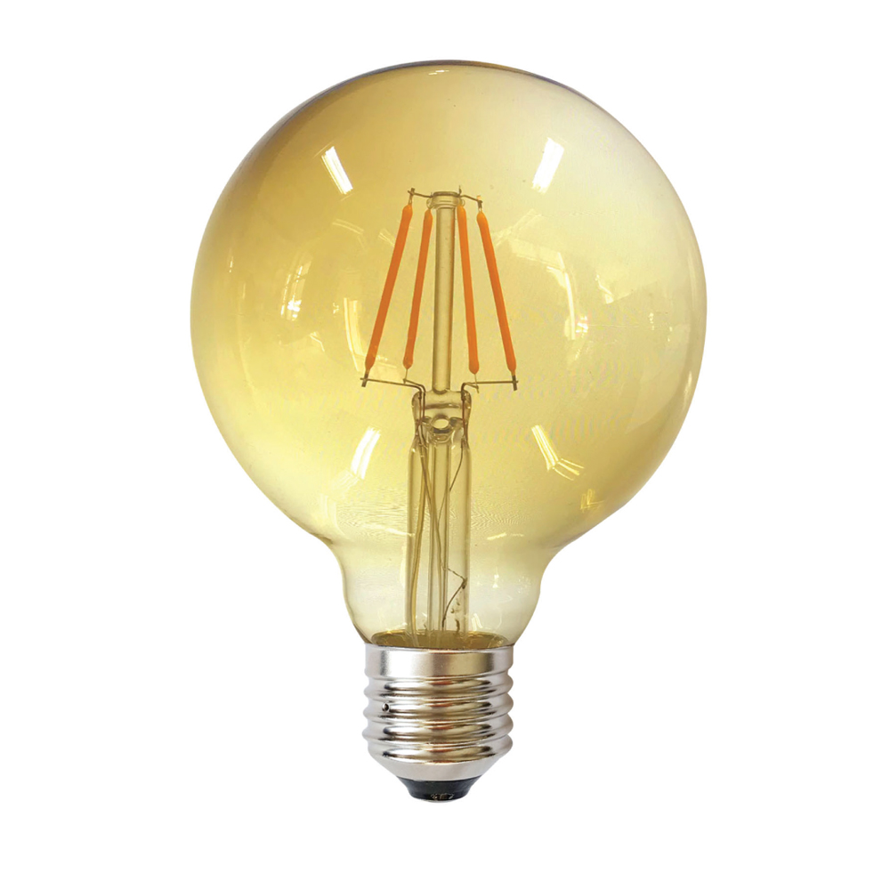 Edison G125 E27 LED 6W Amber Dimm