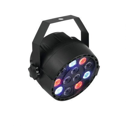 Compact spotlight with 12 x 1 W LED in RGBW and DMX control